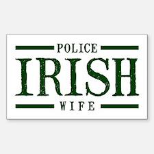 Irish Police Wife Rectangle Decal