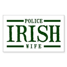 Irish Police Wife Rectangle Stickers