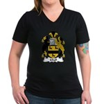 Jekyll Family Crest Women's V-Neck Dark T-Shirt