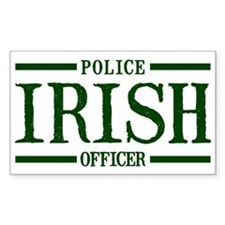 Irish Police Officer Rectangle Decal