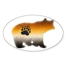 BEAR PRIDE FURRY BEAR 2 Oval Decal