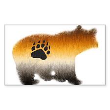 BEAR PRIDE FURRY BEAR 2 Rectangle Decal