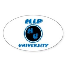 Hip University Oval Decal