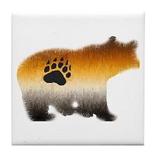 BEAR PRIDE FURRY BEAR 2 Tile Coaster