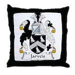 Jarveis Family Crest Throw Pillow