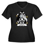 Jackson Family Crest Women's Plus Size V-Neck Dark