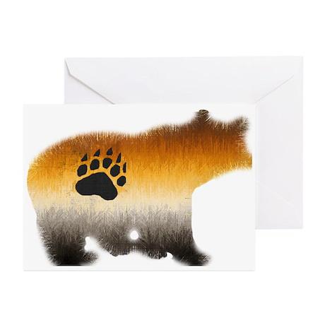 BEAR PRIDE FURRY BEAR 2/WOOF Greeting Cards (10PK