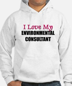 I Love My ENVIRONMENTAL CONSULTANT Hoodie