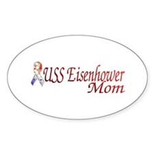 uss eisenhower mom Oval Decal