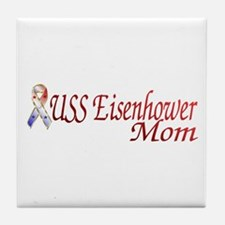 uss eisenhower mom Tile Coaster