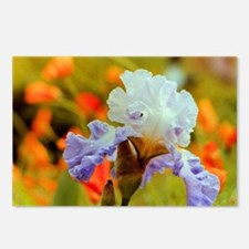 Purple Iris with Poppies Postcards (Package of 8)