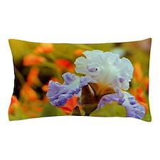 Purple Iris with Poppies Pillow Case