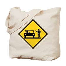 Car vs.Bicycle Road Rage Tote Bag