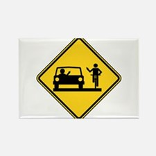 Car vs.Bicycle Road Rage Rectangle Magnet