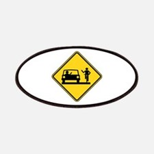 Car vs.Bicycle Road Rage Patch