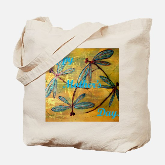 Happy Mother's Day Dragonfly Haze Tote Bag