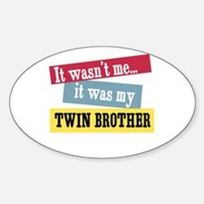 Twin Brother Oval Decal