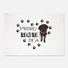 Proud mom of a Pup 5'x7'Area Rug