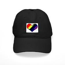 Artistic Gay Pride Heart Baseball Hat