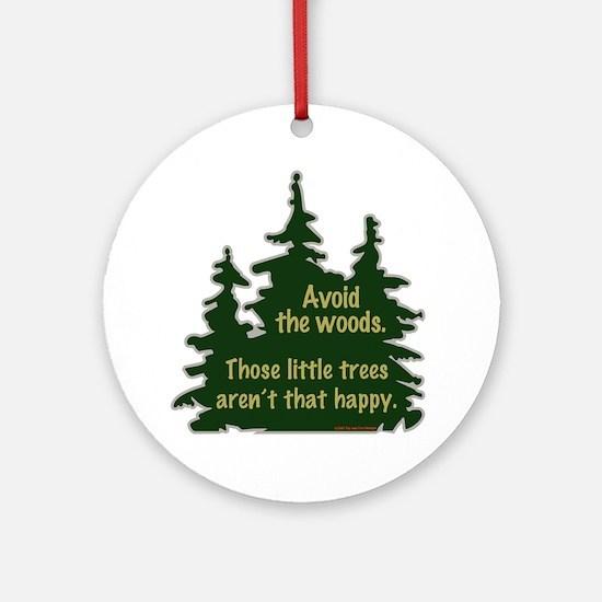 Happy Trees Ornament (Round)