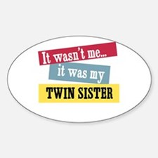 Twin Sister Oval Decal