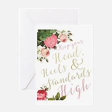 Head, Heels & Standards Greeting Cards