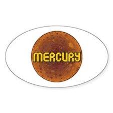 Planet Mecury Oval Decal