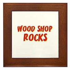 Wood Shop~Rocks Framed Tile
