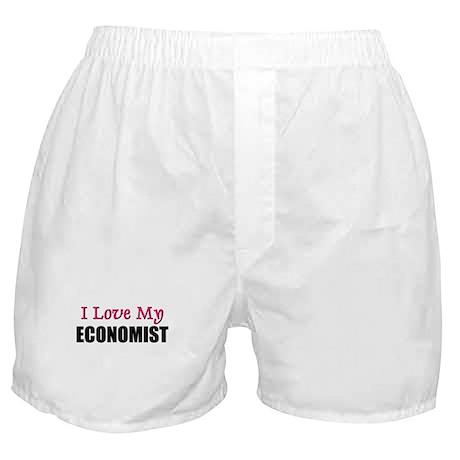 I Love My ECONOMIST Boxer Shorts