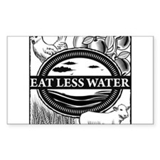Eat Less Water Decal