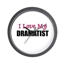 I Love My DRAMATIST Wall Clock