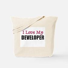 I Love My DEVELOPER Tote Bag