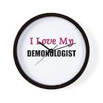 I Love My DEMONOLOGIST Wall Clock