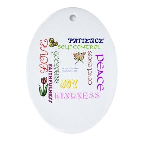 Fruit of the Spirit Oval Ornament