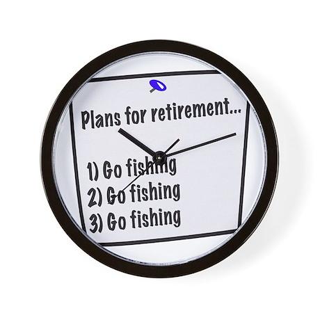 Retirement Plans (fishing) Wall Clock