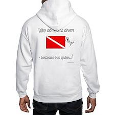 Diver Mom Front-Back Designs Hoodie