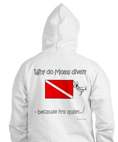Diver Mom Front-Back Designs Jumper Hoody