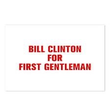 Bill Clinton for First Gentleman-Akz red 500 Postc