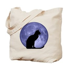 Cat & Moon Tote Bag