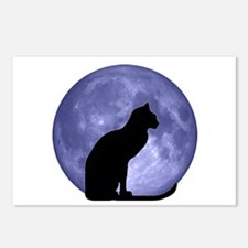 Cat & Moon Postcards (Package of 8)