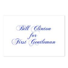 Bill Clinton for First Gentleman-Cho blue 300 Post