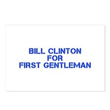 Bill Clinton for First Gentleman-Cle blue 500 Post
