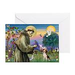 Saint Francis / Beagle Greeting Card