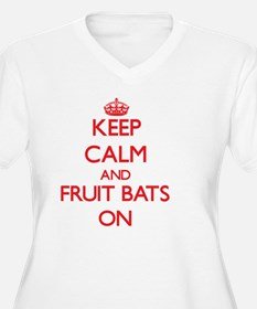 Keep Calm and Fruit Bats ON Plus Size T-Shirt
