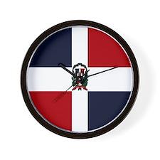 Domincan Flag Wall Clock