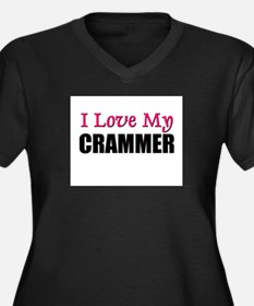 I Love My CRAMMER Women's Plus Size V-Neck Dark T-