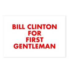 Bill Clinton for First Gentleman-Fut red 400 Postc