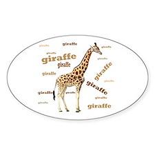 Giraffe Oval Decal