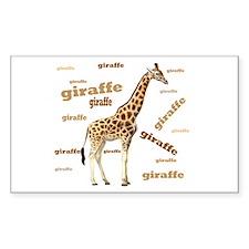 Giraffe Rectangle Decal