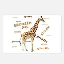 Giraffe Postcards (Package of 8)